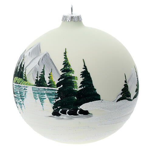 Glass ball ornament alpine lake 150 mm 3