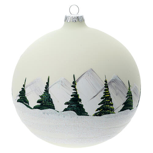 Glass ball ornament alpine lake 150 mm 5