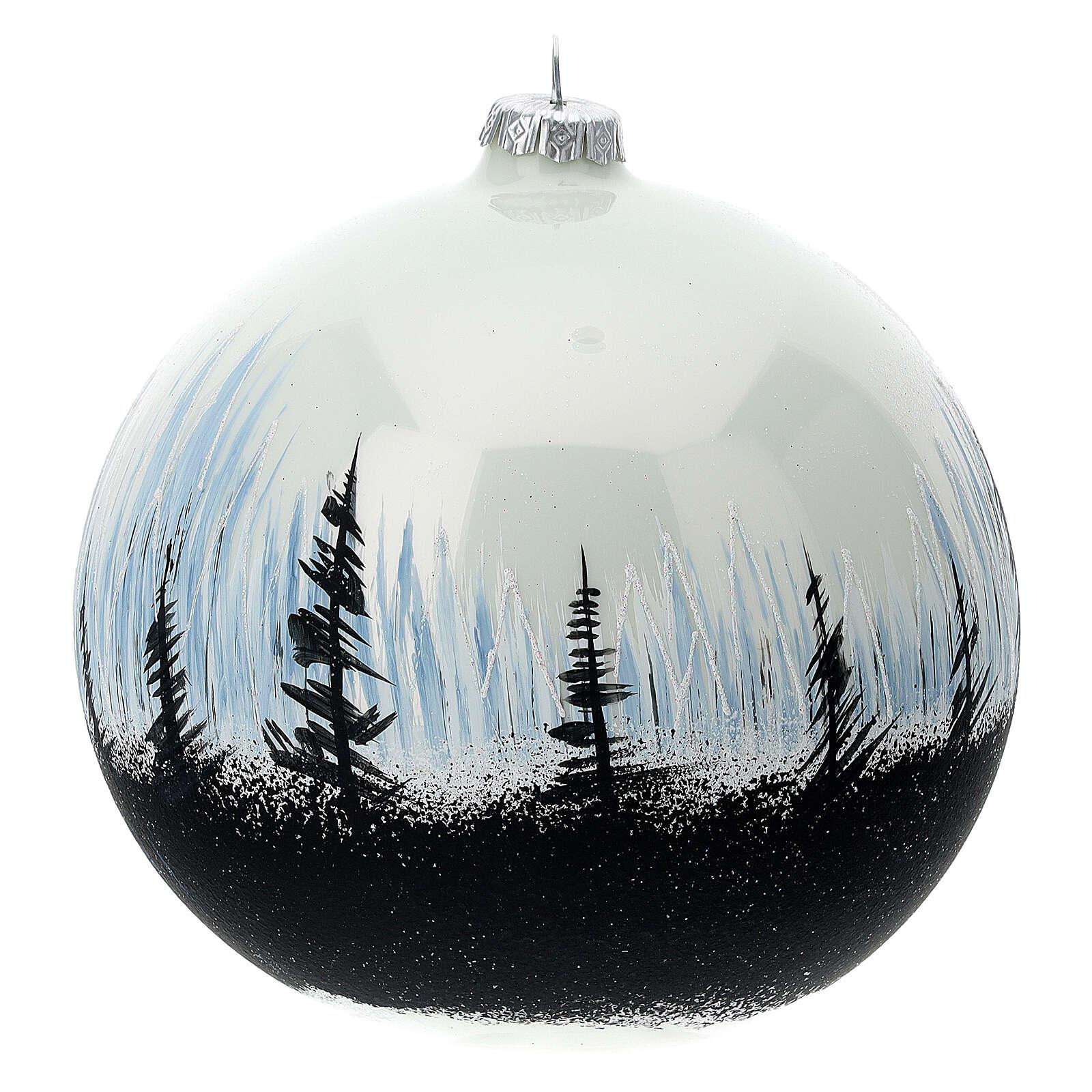 Christmas ball contrasting trees blown glass 150 m 4