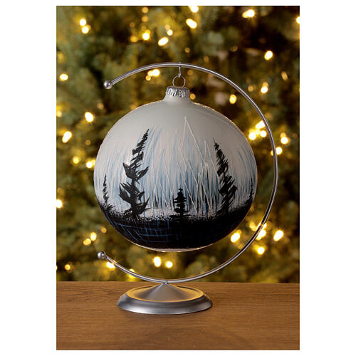 Christmas ball contrasting trees blown glass 150 m 2