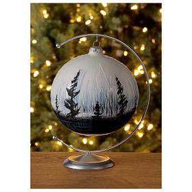 Bola Navidad árbol contraste vidrio soplado 150 mm s2