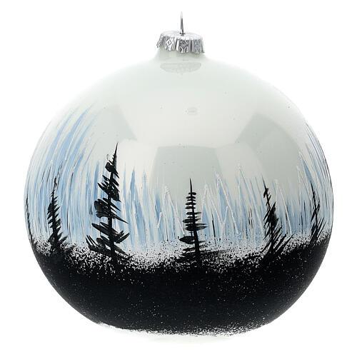 Bola Navidad árbol contraste vidrio soplado 150 mm 5