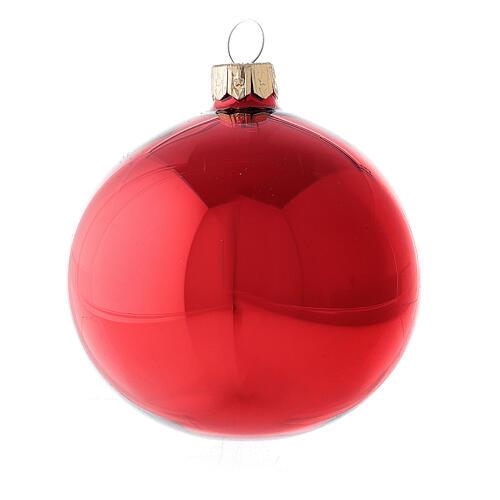 Pallina Natale 150 mm cuore bianco argento lampione vetro soffiato 2