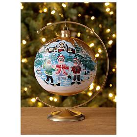 Christmas tree ornament village children blown glass 150 mm s2