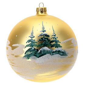 Boule Noël village enfants verre soufflé 150 mm s5
