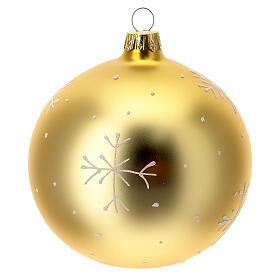 Bola árvore de Natal aldeia de montanha vidro soprado dourado 100 mm s5