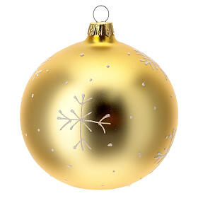 Christmas ball gold mountain village blown glass 100 mm s5