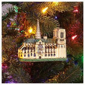 Cathédrale Notre-Dame verre soufflé sapin de Noël