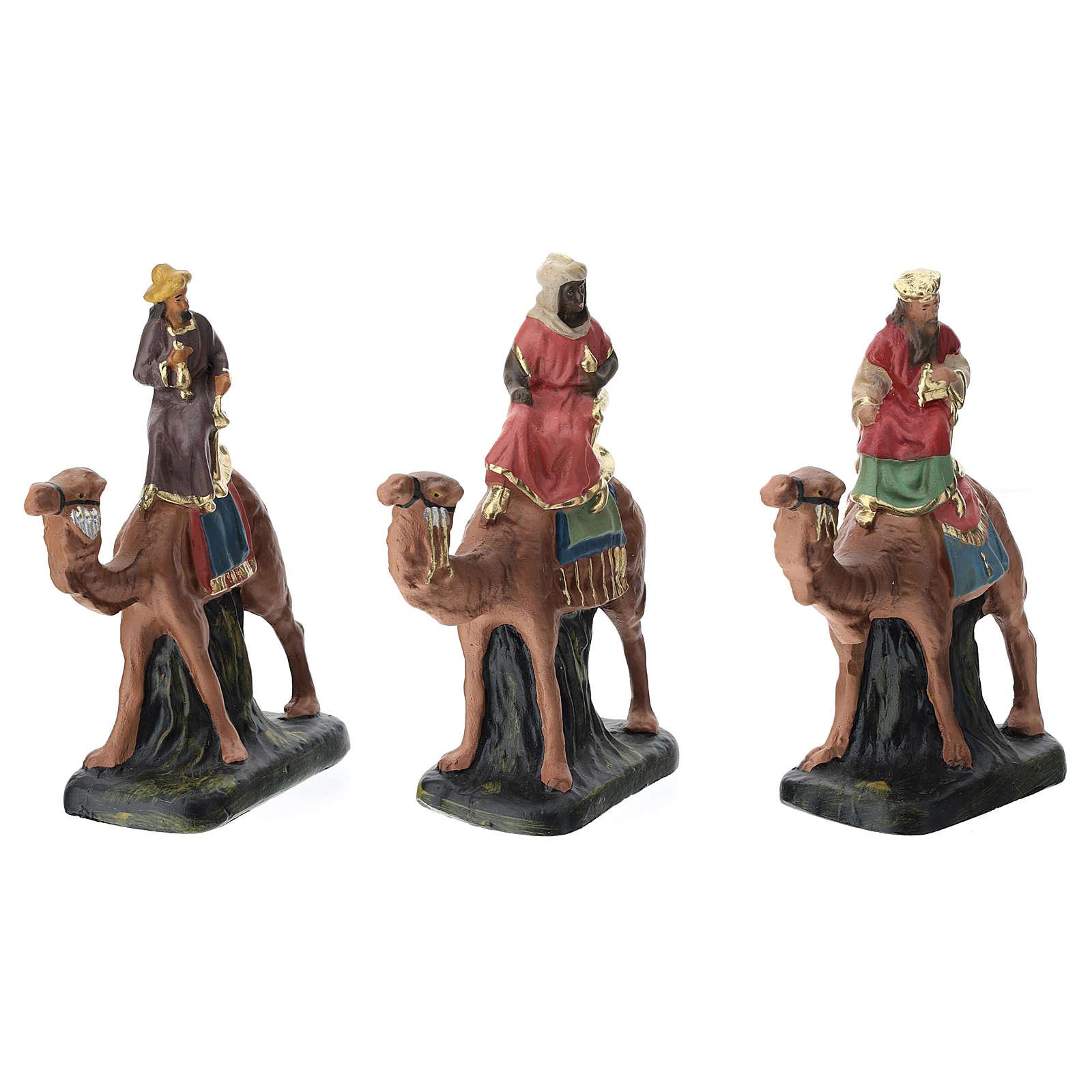 Belén Arte Barsanti completo 19 personajes de yeso coloreado 10 cm 4