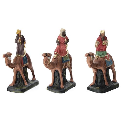 Belén Arte Barsanti completo 19 personajes de yeso coloreado 10 cm 3
