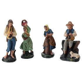 Presepe Arte Barsanti completo 19 personaggi in gesso colorato 10 cm s5