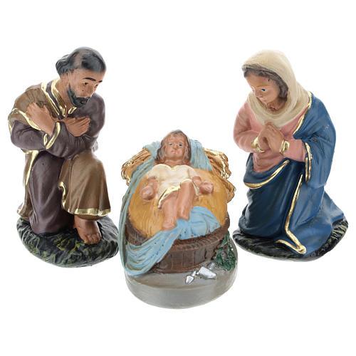 Natividad yeso pintado a mano 10 cm Arte Barsanti 1