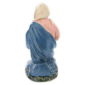 Estatua Virgen de rodillas yeso para belén 10 cm Arte Barsanti s2