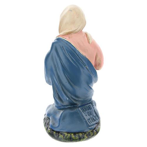 Estatua Virgen de rodillas yeso para belén 10 cm Arte Barsanti 2