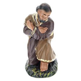 Statua San Giuseppe 10 cm gesso colorato Arte  Barsanti s1