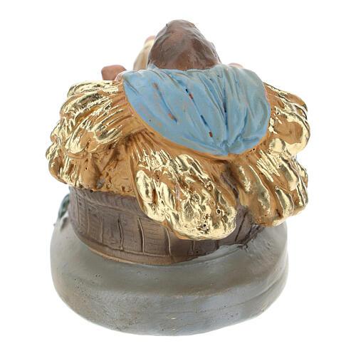 Baby Jesus figurine in colored plaster, for 10 cm Arte Barsanti nativity 2