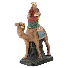 Re Magi in gesso dipinto a mano Arte Barsanti per presepi 10 cm s3