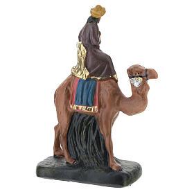 Three Kings set on camel in plaster, for 10 cm Barsanti nativity s4