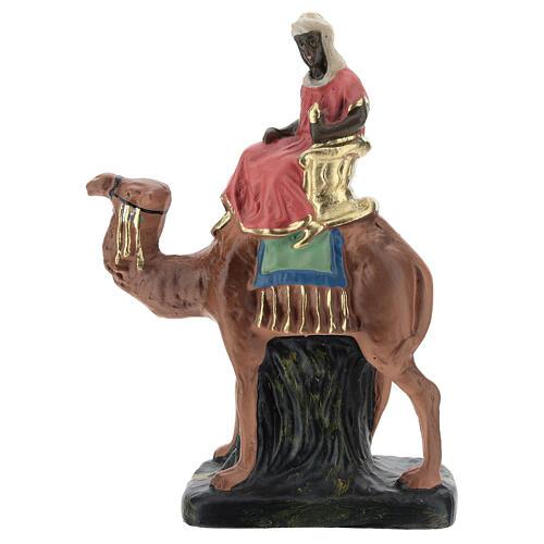 Three Kings set on camel in plaster, for 10 cm Barsanti nativity 2