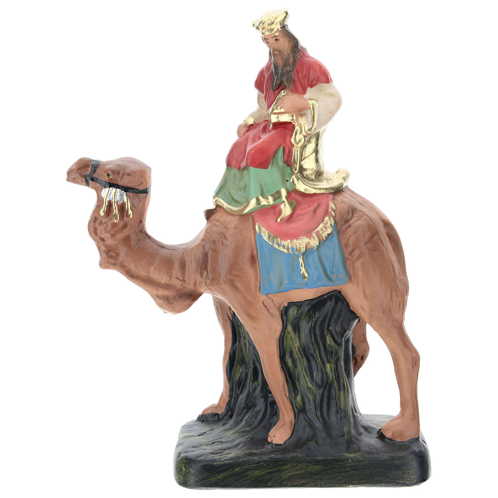 Rey Mago Melchor con camello para belenes 10 cm Arte Barsanti 4