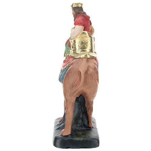 Rey Mago Melchor con camello para belenes 10 cm Arte Barsanti 3