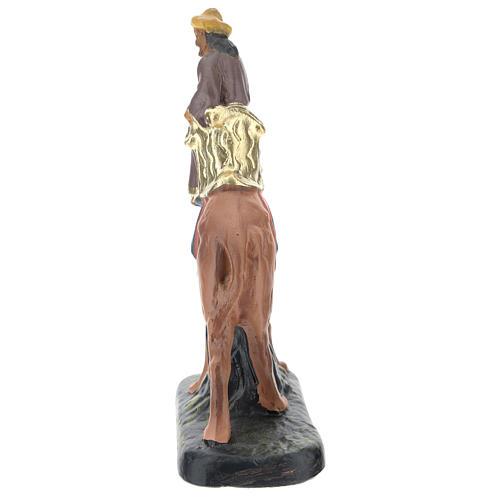 Re Magio Gaspare su cammello in gesso colorato 10 cm Arte Barsanti 3