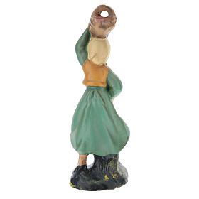 Pastora Arte Barsanti con cesta yeso coloreado para belenes de 10 cm s2