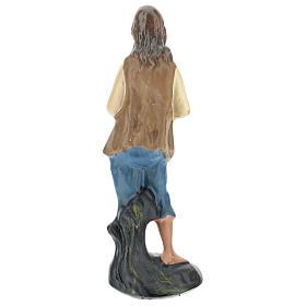 Statuina zampognaro gesso colorato per presepi 10 cm Arte Barsanti s2