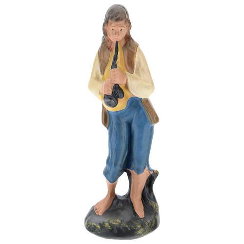 Piper boy statue in colored plaster, for 10 cm Arte Barsanti nativity 1