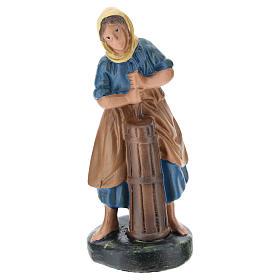 Estatua pastora yeso pintado a mano 10 cm Arte Barsanti s1