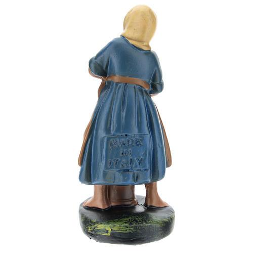 Estatua pastora yeso pintado a mano 10 cm Arte Barsanti 2