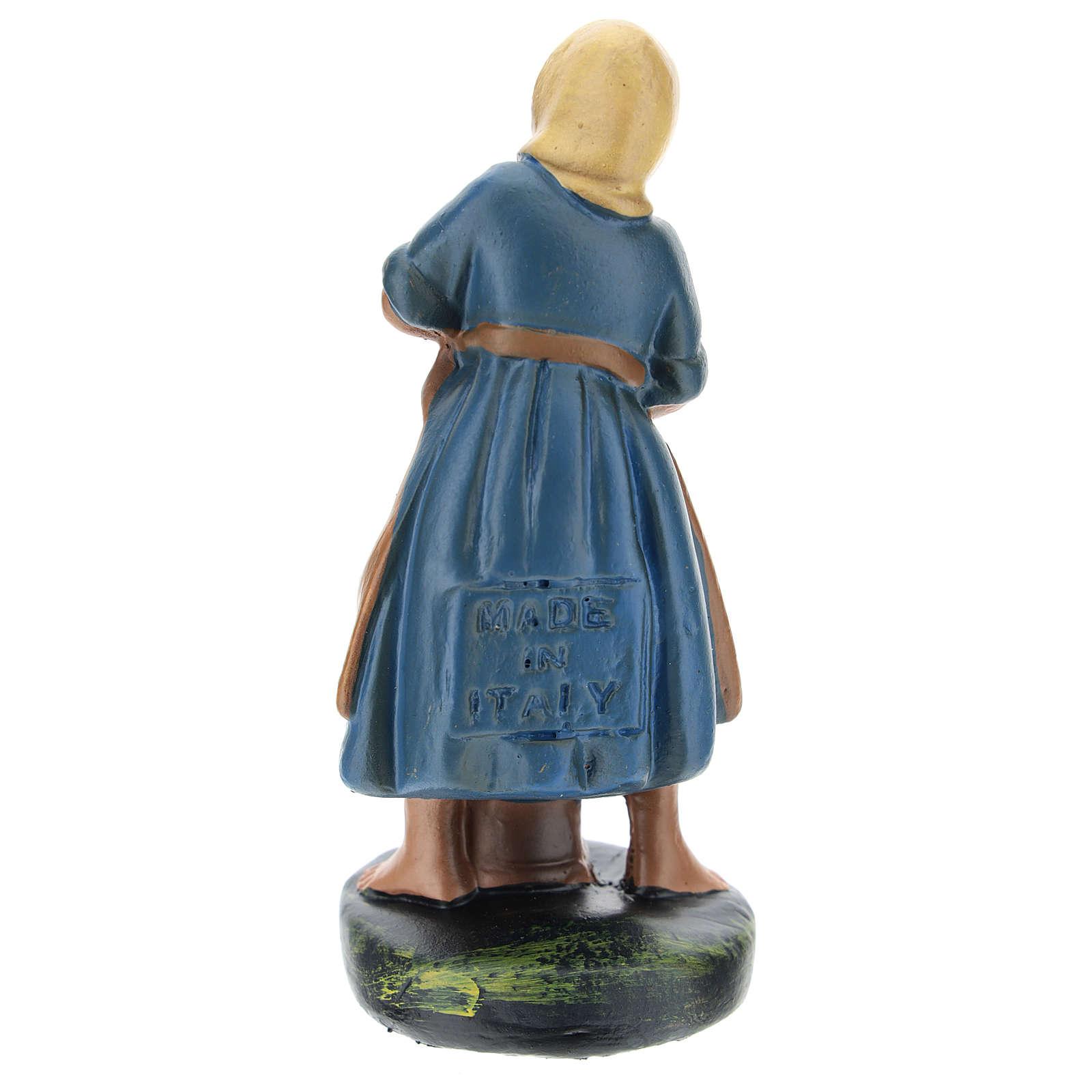 Statuina pastorella gesso dipinto a mano 10 cm Arte Barsanti 4