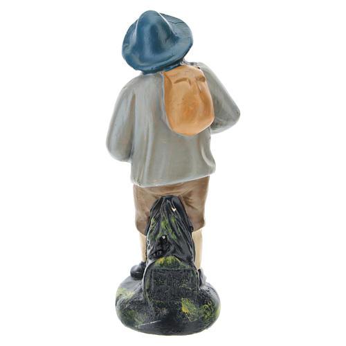 Estatua pastor con sombrero y saco yeso coloreado belenes 10 cm Barsanti 2