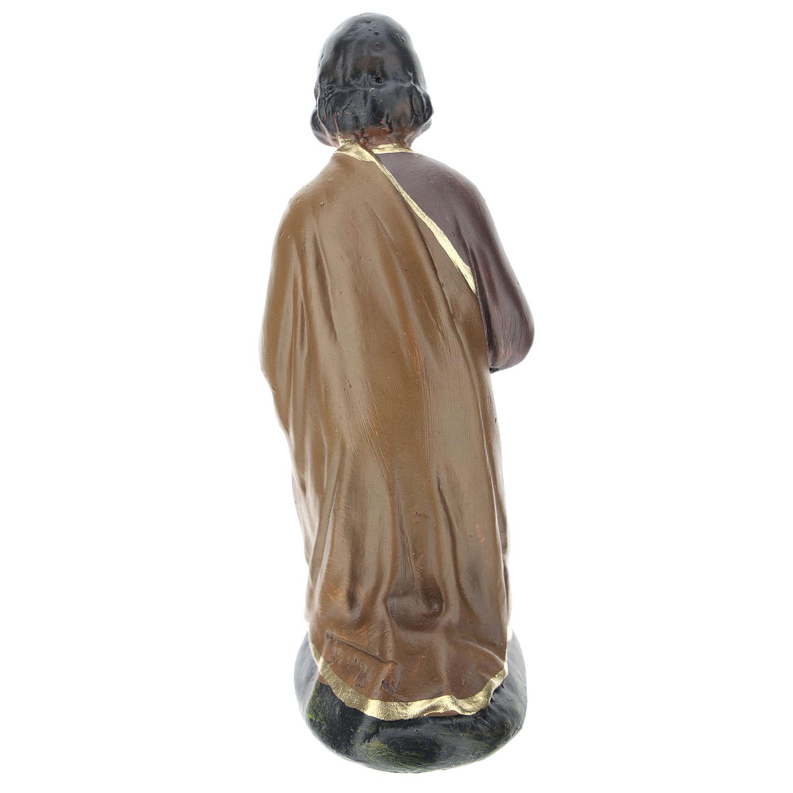 Saint Joseph en plâtre coloré pour crèche Arte Barsanti de 15 cm 4