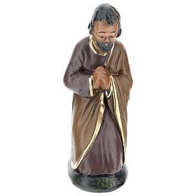 Statua San Giuseppe in gesso dipinto per presepi 15 cm Arte Barsanti
