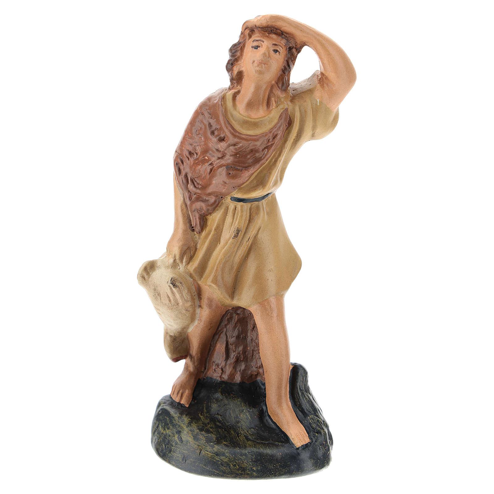 Statua pastore che guarda le stelle gesso colorato Arte Barsanti 15 cm 4
