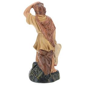Statua pastore che guarda le stelle gesso colorato Arte Barsanti 15 cm s2