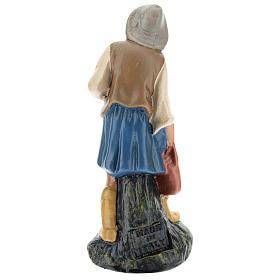 Estatua pastor con jarra yeso pintado a mano 15 cm Arte Barsanti s2