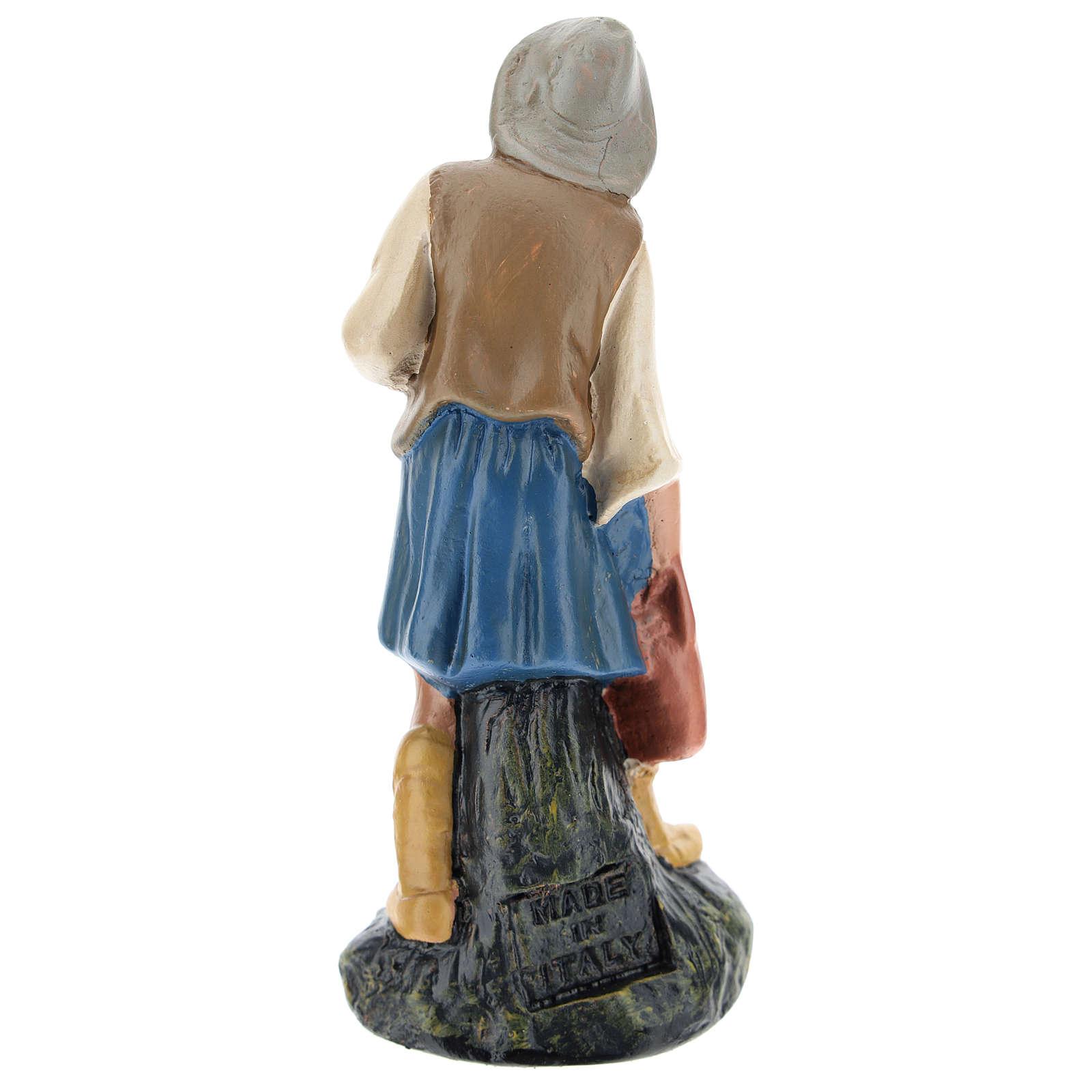 Statua pastore con brocca gesso dipinto a mano 15 cm Arte Barsanti 4