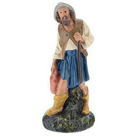 Statua pastore con brocca gesso dipinto a mano 15 cm Arte Barsanti s1