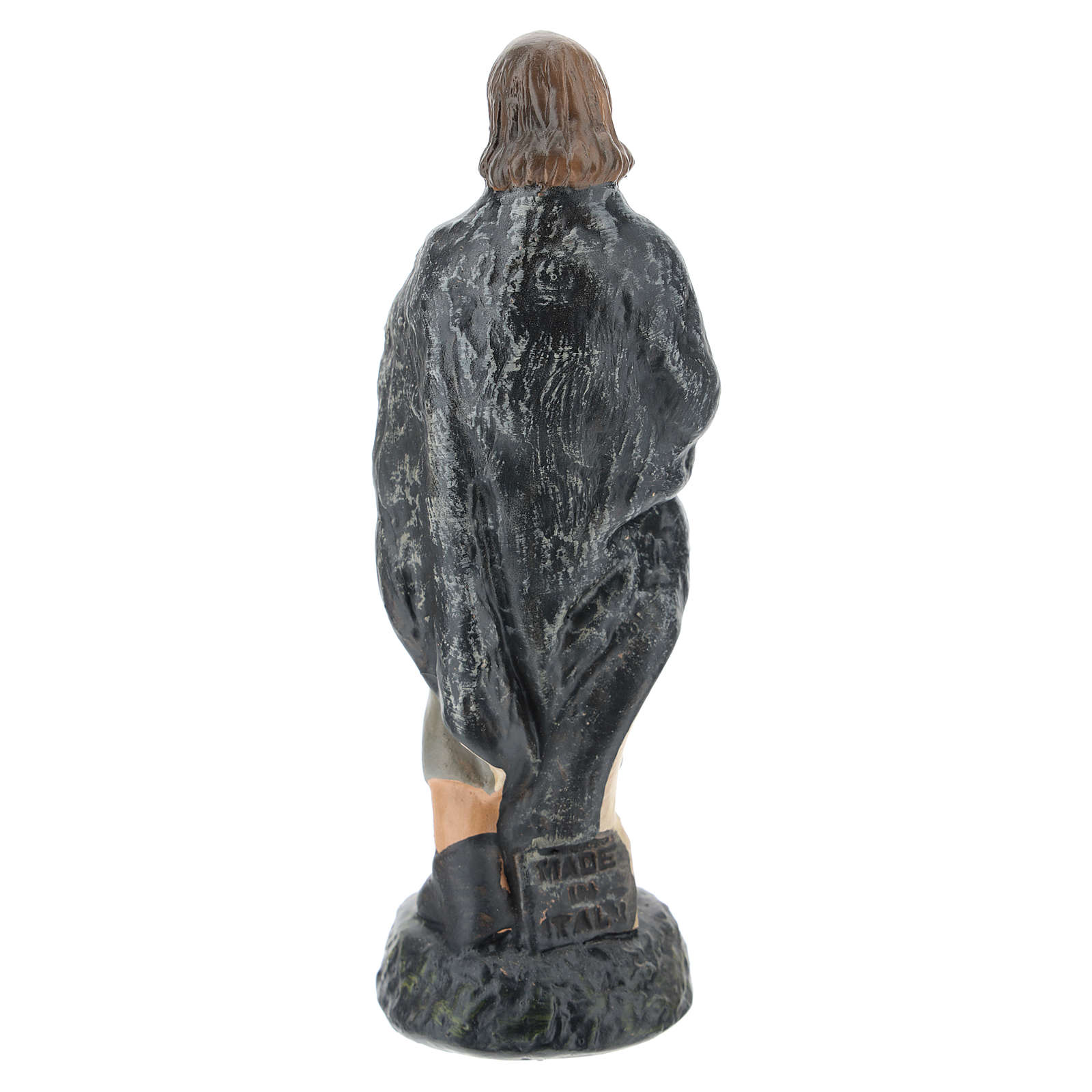 Estatua pastor en adoración yeso pintado a mano para belenes Barsanti 15 cm 4