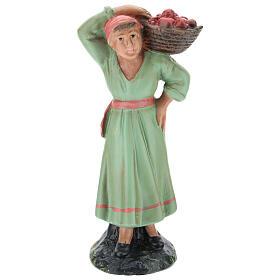 Farmer girl with apple basket, for 15 cm Arte Barsanti Nativity s1