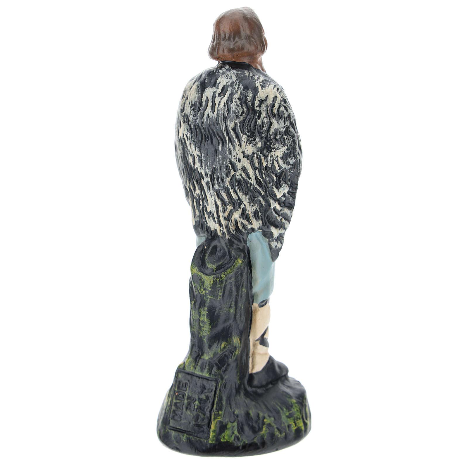 Estatua pastor con flauta yeso para belenes de 15 cm Arte Barsanti 4