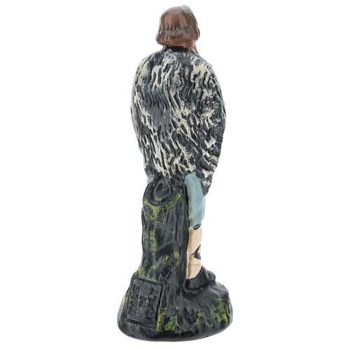 Statua pastore con flauto gesso per presepi di 15 cm Arte Barsanti 2