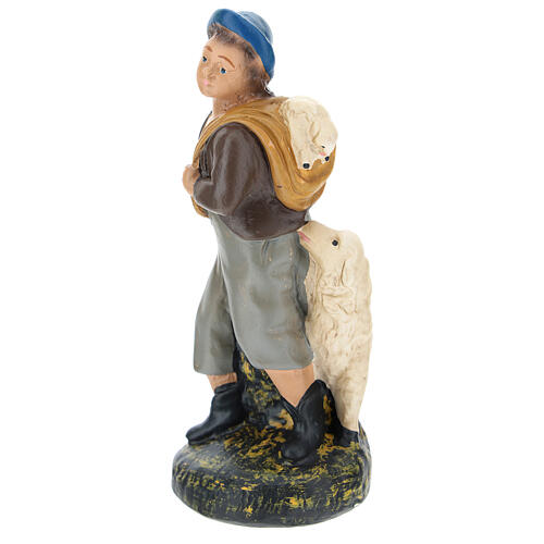 Shepherd with sheep for Arte Barsanti Nativity Scene 15 cm 2