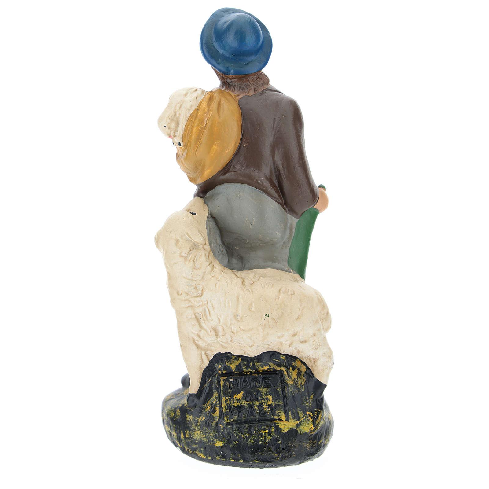 Estatua pastor con ovejas belenes de Arte Barsanti 15 cm 4