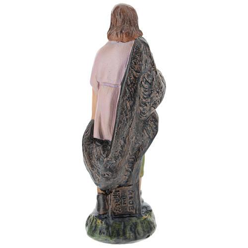 Estatua pastor yeso pintado a mano para belenes de Arte Barsanti 15 cm 2