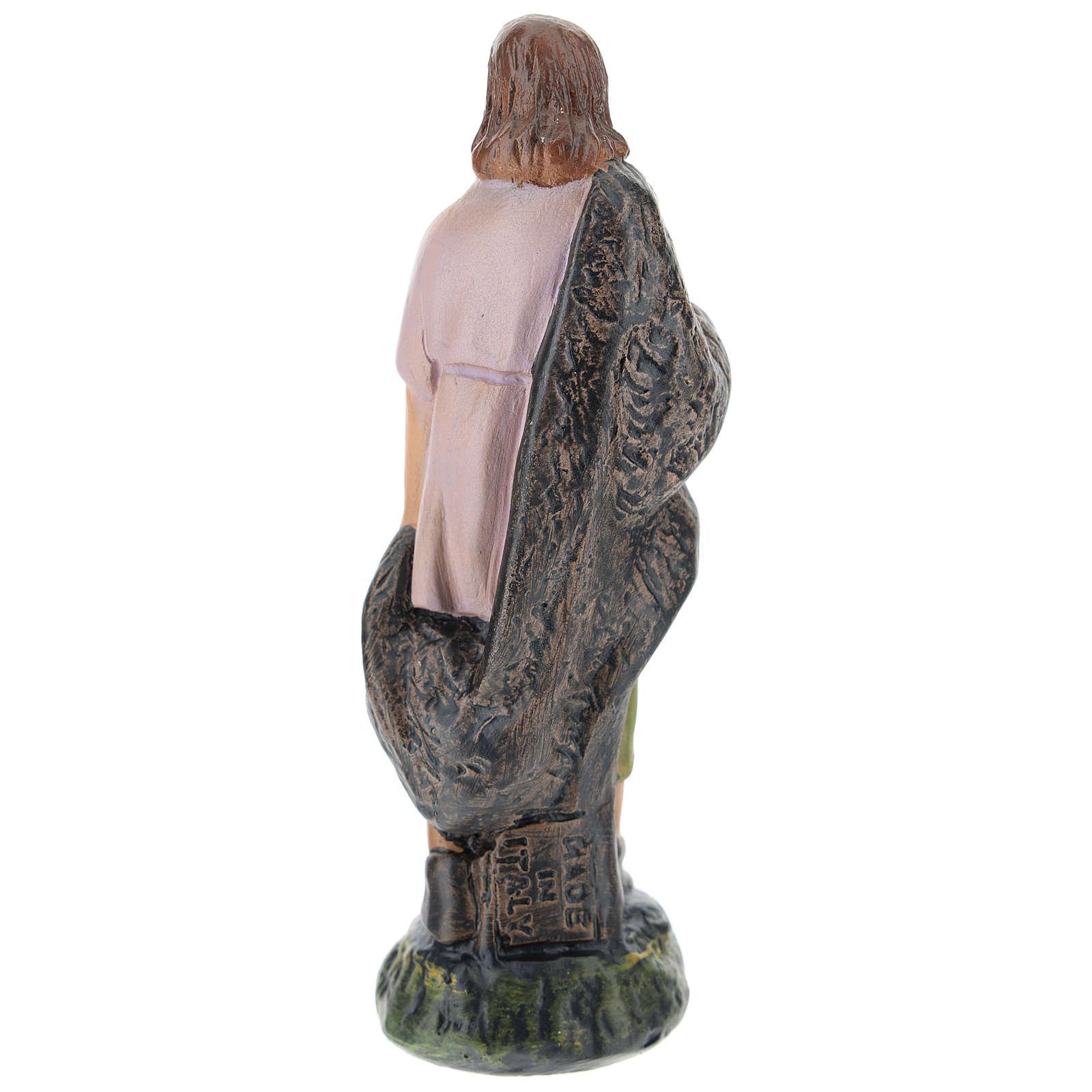 Statua pastore gesso dipinto a mano per presepi di Arte Barsanti 15 cm 4