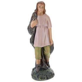 Statua pastore gesso dipinto a mano per presepi di Arte Barsanti 15 cm s1