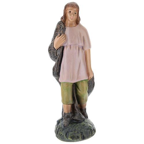 Statua pastore gesso dipinto a mano per presepi di Arte Barsanti 15 cm 1